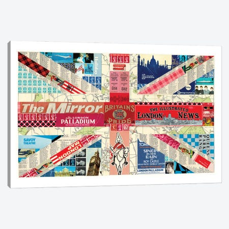 Union Jack Flag Canvas Print #CTZ56} by Paper Cutz Art Print