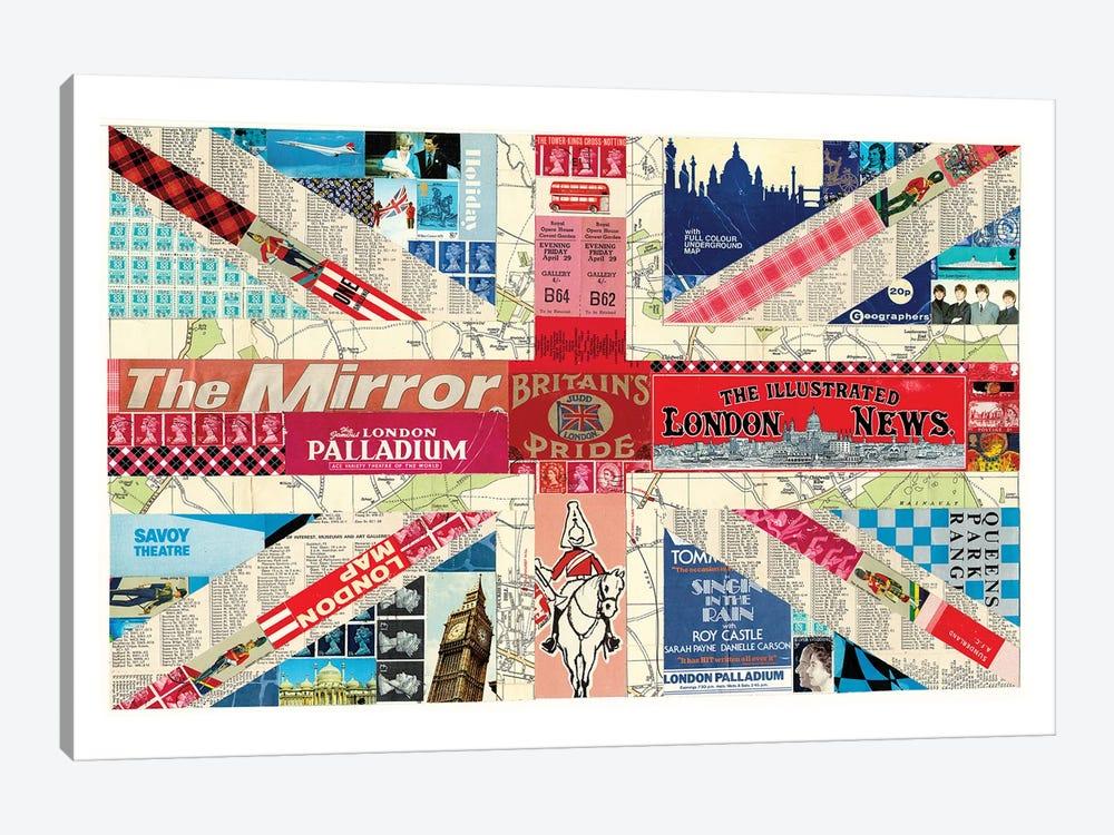 Union Jack Flag by Paper Cutz 1-piece Canvas Art Print
