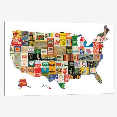 USA Canvas Print #CTZ57} by Paper Cutz Art Print