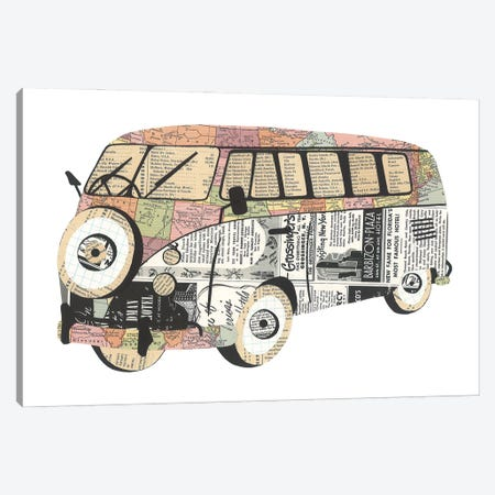 Retro Van Canvas Print #CTZ58} by Paper Cutz Canvas Artwork