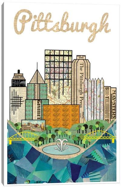 Pittsburgh Vertical Skyline Canvas Art Print