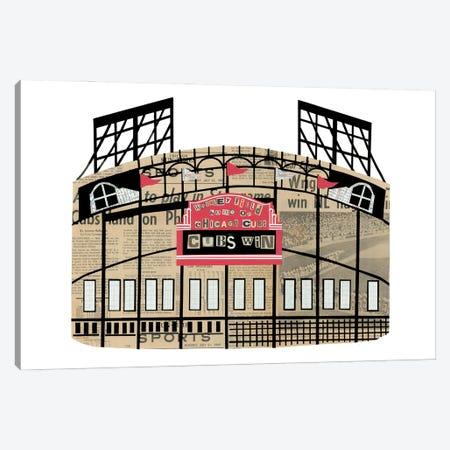Wrigley Field Canvas Print #CTZ62} by Paper Cutz Canvas Art Print
