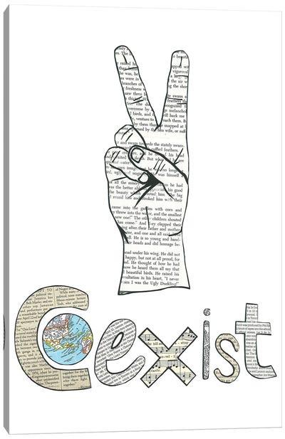 Coexist Canvas Art Print