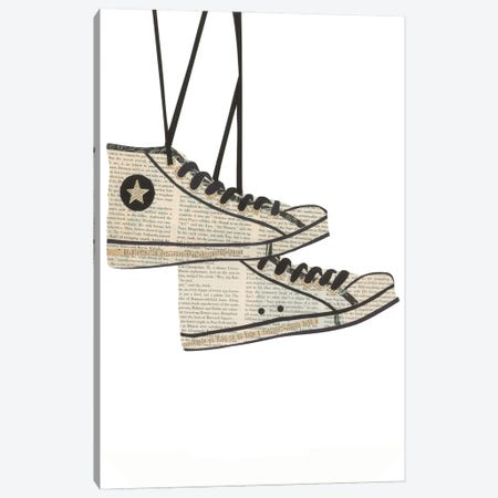 Sneakers Canvas Print #CTZ73} by Paper Cutz Canvas Artwork
