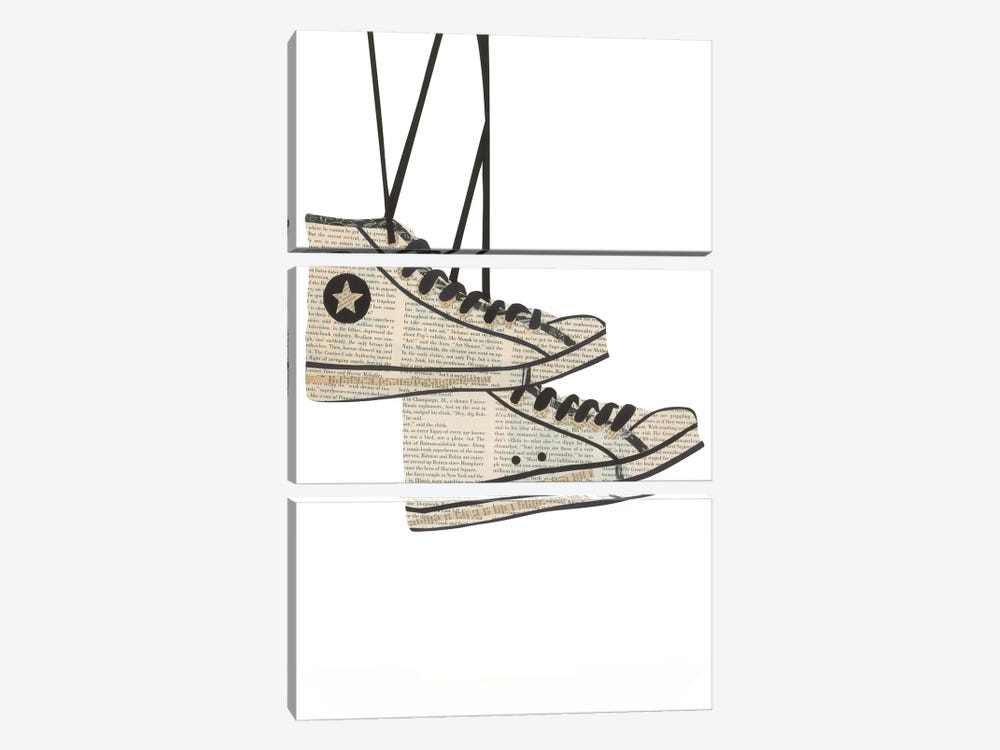 Sneakers by Paper Cutz 3-piece Canvas Wall Art