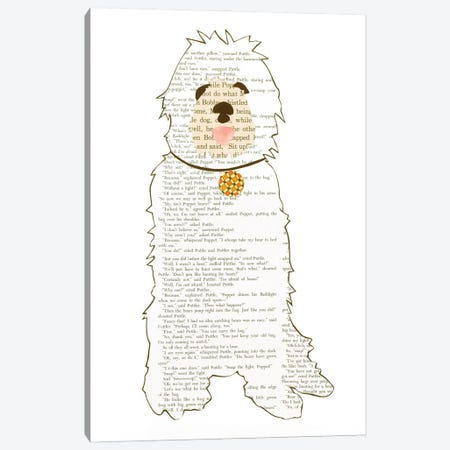 Dog Canvas Print #CTZ74} by Paper Cutz Canvas Art Print