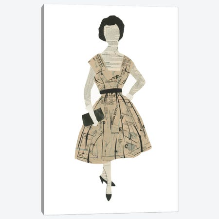 Classy Lady Canvas Print #CTZ75} by Paper Cutz Canvas Art Print