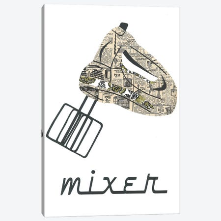 Retro Mixer Canvas Print #CTZ76} by Paper Cutz Canvas Print