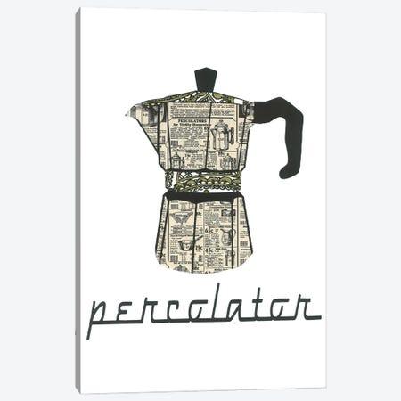 Retro Perculator Canvas Print #CTZ78} by Paper Cutz Canvas Artwork