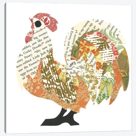 Rooster Canvas Print #CTZ79} by Paper Cutz Canvas Artwork