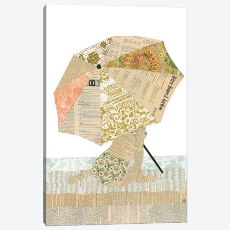 Beach Lady Canvas Print #CTZ7} by Paper Cutz Canvas Art Print
