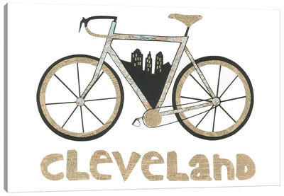 Bike Cleveland Canvas Art Print