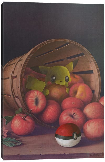 Pika-Chew Canvas Art Print