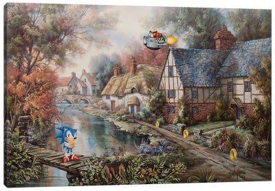 Sonic Speed Canvas Art Print