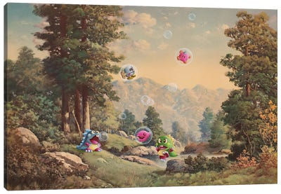 Bubble Dragons Canvas Art Print