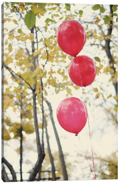 Can You See The Red Balloons Canvas Art Print