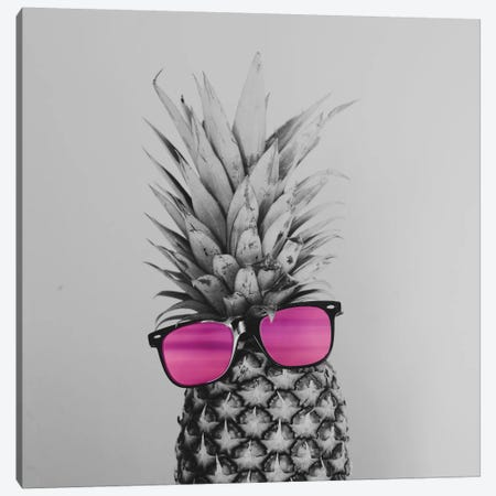 Mrs. Pineapple Canvas Print #CVA131} by Chelsea Victoria Canvas Artwork
