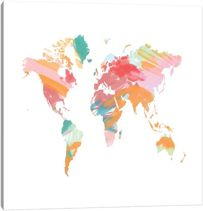 The Artist's World Map Canvas Art Print
