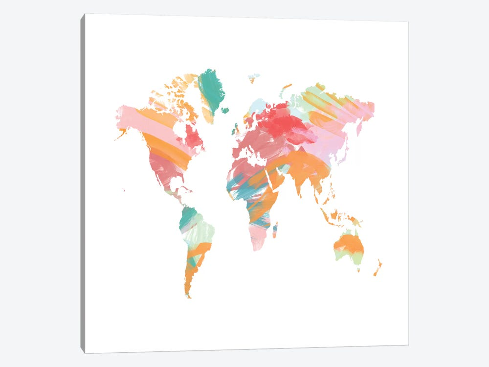 The Artist's World Map by Chelsea Victoria 1-piece Canvas Art