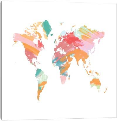 The Artist's World Map Canvas Art Print