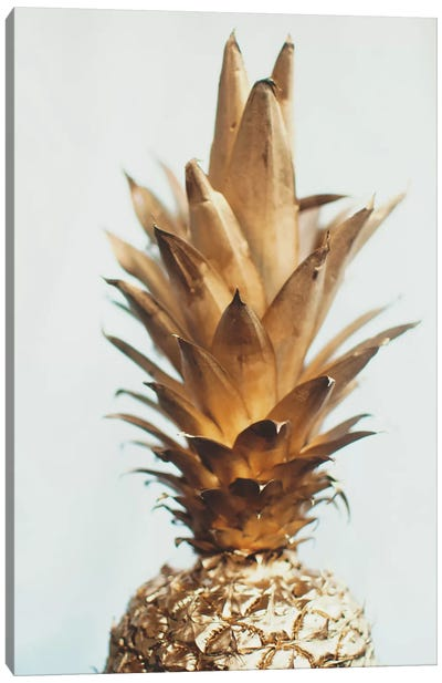 The Gold Pineapple Canvas Art Print