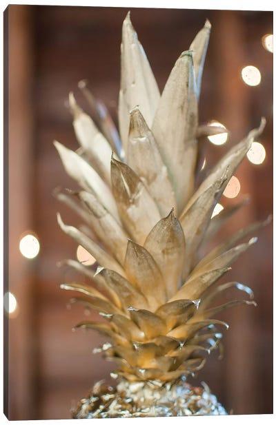 Gold Pineapple I Canvas Art Print