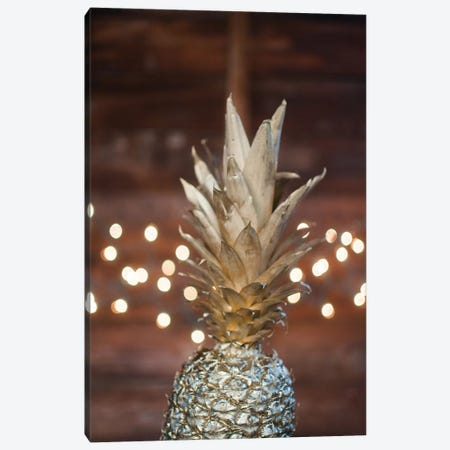Gold Pineapple II Canvas Print #CVA160} by Chelsea Victoria Canvas Print