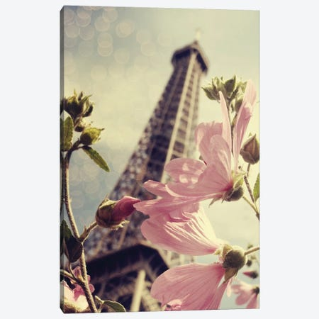 Paris Is Blooming Canvas Print #CVA168} by Chelsea Victoria Canvas Print