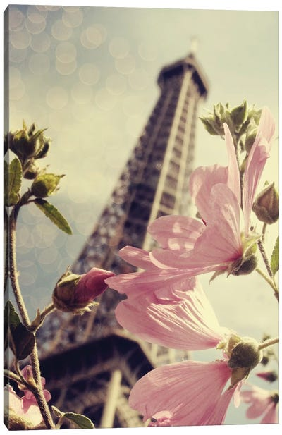 Paris Is Blooming Canvas Art Print