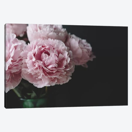 Peonies On Black I Canvas Print #CVA169} by Chelsea Victoria Canvas Art Print
