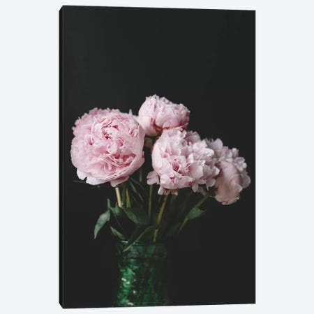 Peonies On Black II Canvas Print #CVA170} by Chelsea Victoria Canvas Art