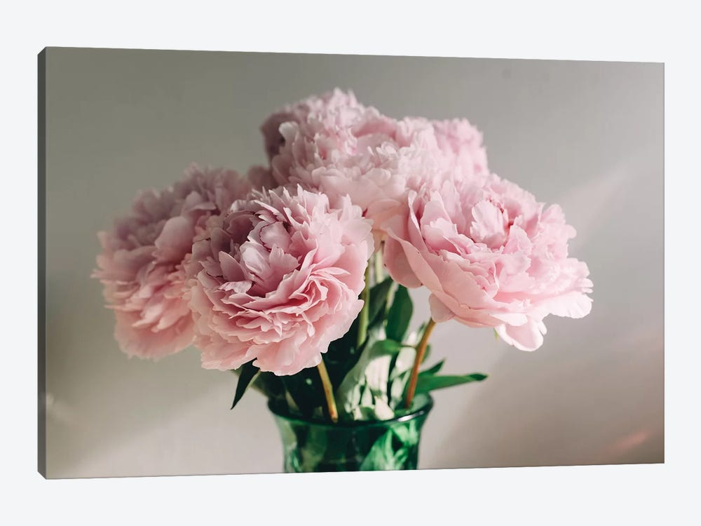 Pink Peonies On White I by Chelsea Victoria 1-piece Art Print