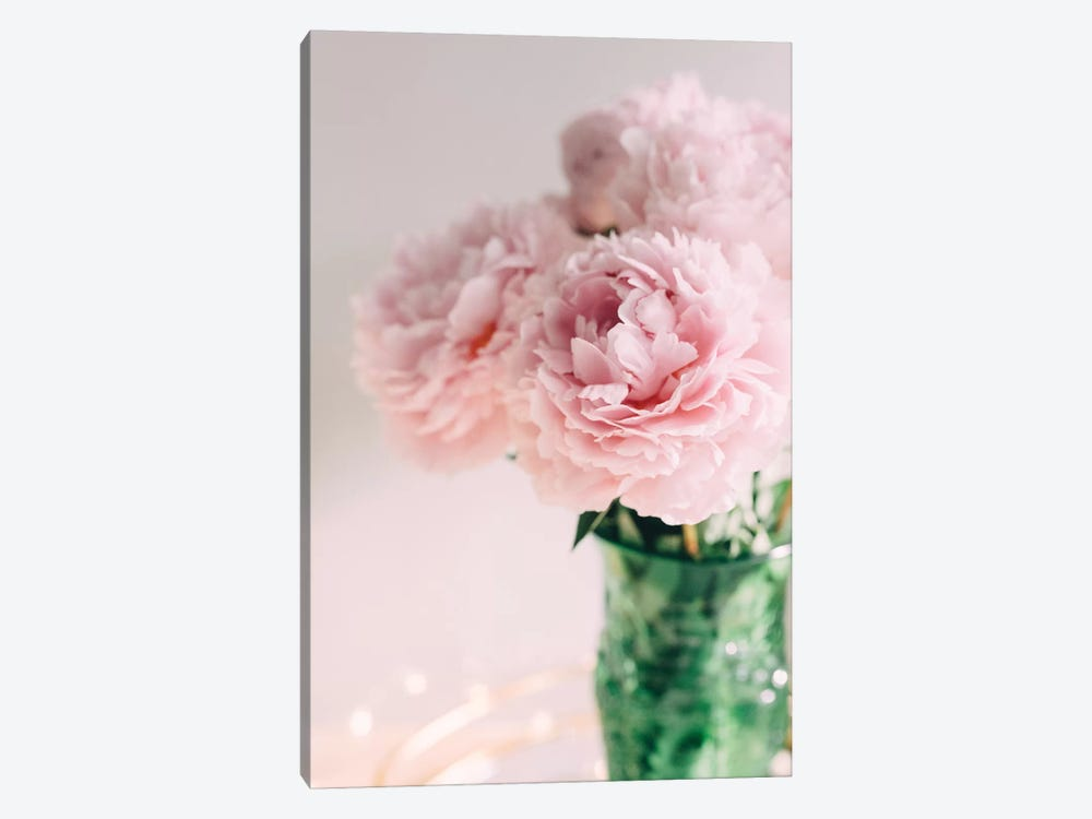 Pink Peonies On White II by Chelsea Victoria 1-piece Canvas Art Print