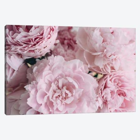 Pink Peonies Top 3-Piece Canvas #CVA181} by Chelsea Victoria Canvas Art Print
