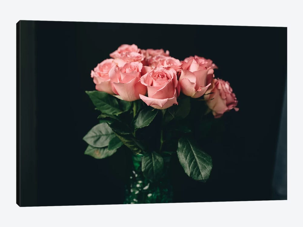 Pink Roses On Black I by Chelsea Victoria 1-piece Art Print