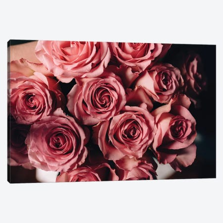 Pink Roses On Top Canvas Print #CVA184} by Chelsea Victoria Canvas Art
