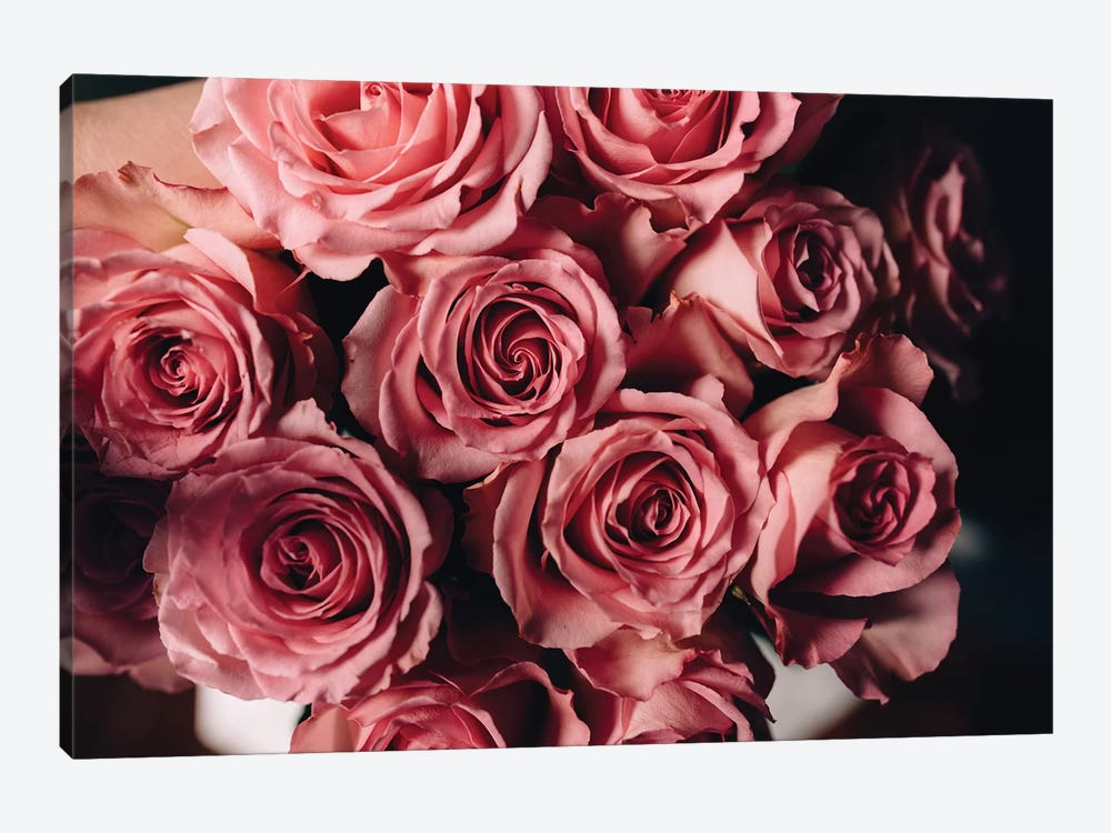 Pink Roses On Top by Chelsea Victoria 1-piece Art Print