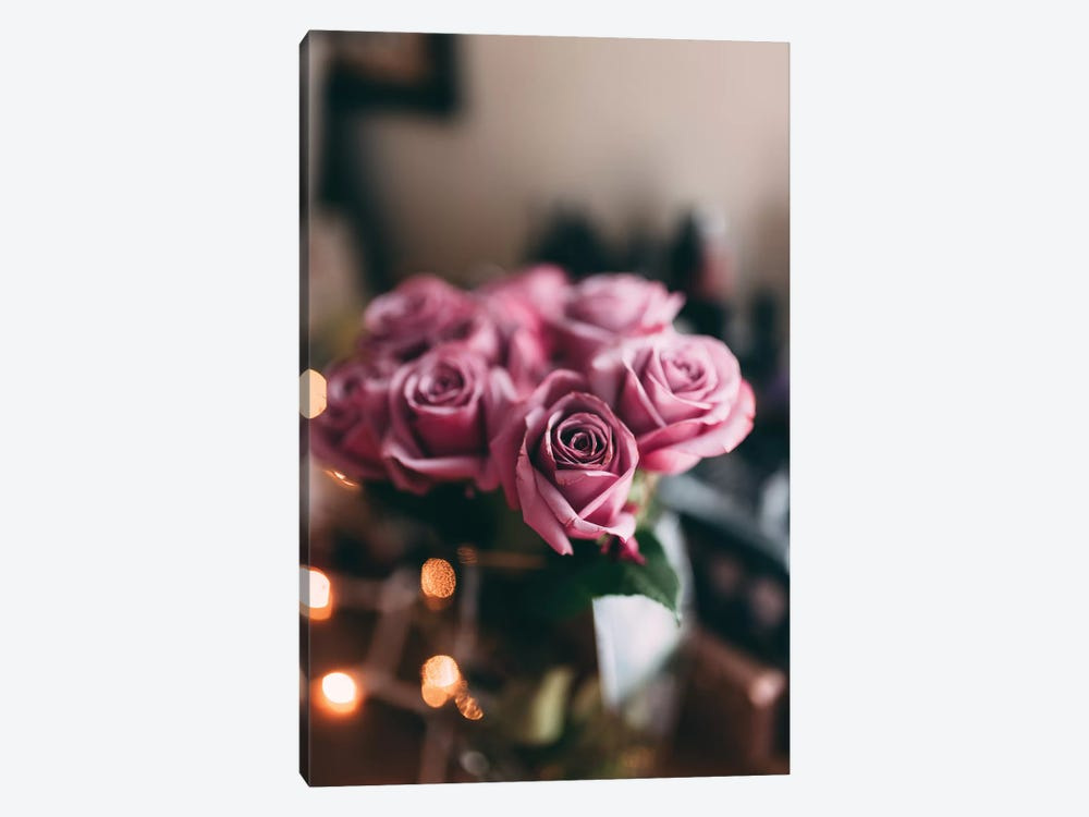 Purple Roses by Chelsea Victoria 1-piece Canvas Wall Art