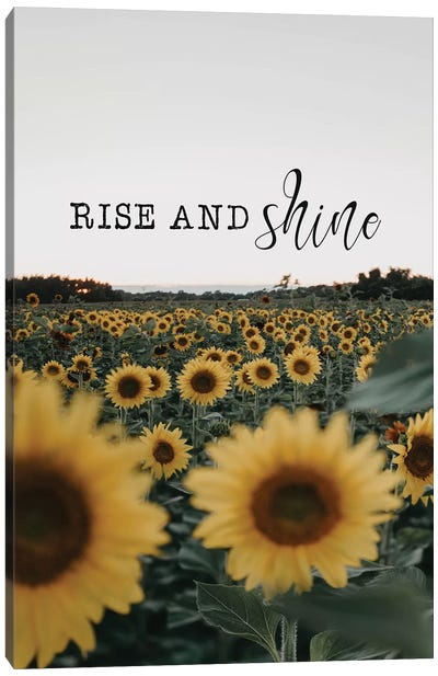 Rise And Shine Sunflowers Canvas Art Print