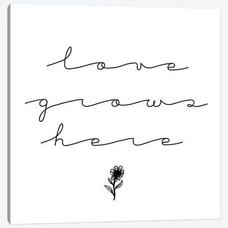 Love Grows Here Canvas Print #CVA266} by Chelsea Victoria Canvas Print