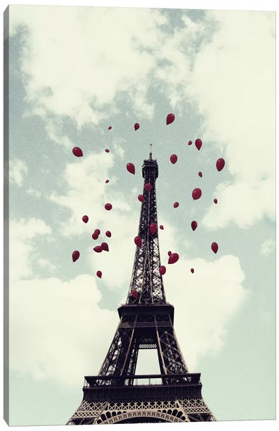 From Paris With Love Canvas Print #CVA26