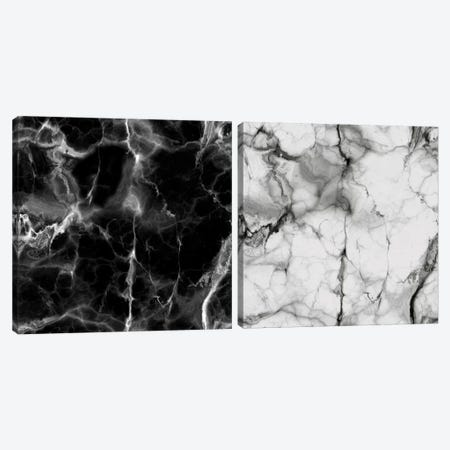Black And White Marble Diptych Canvas Print Set #CVA2HSET002} by Chelsea Victoria Canvas Art