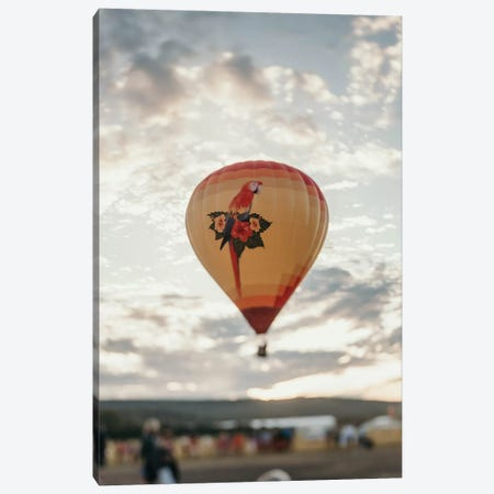 Hot Air Balloon At Sunset Canvas Print #CVA322} by Chelsea Victoria Art Print