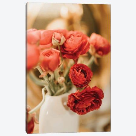 Red Ranunculus Canvas Print #CVA372} by Chelsea Victoria Canvas Art