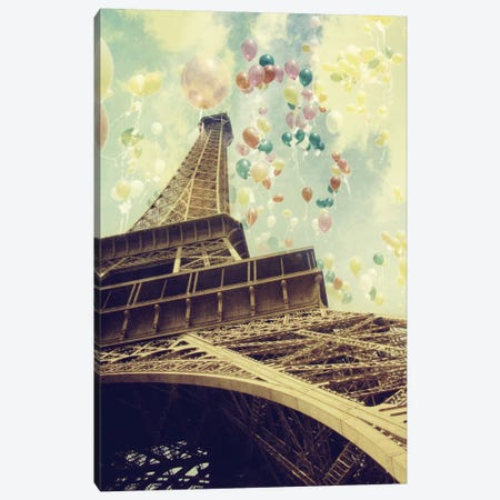 Paris Is Flying Canvas Print #CVA57} by Chelsea Victoria Art Print