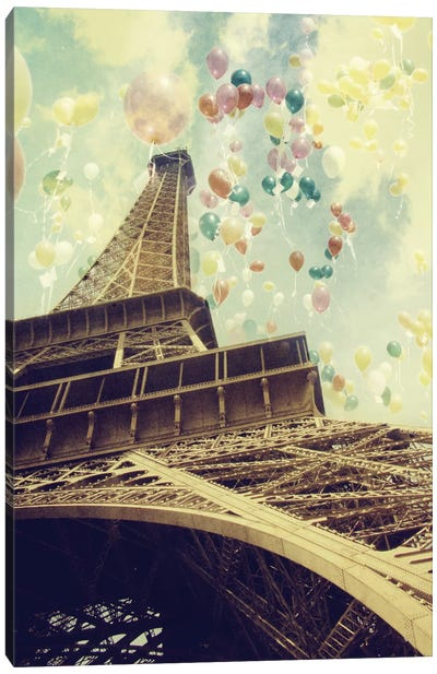 Paris Is Flying Canvas Art Print
