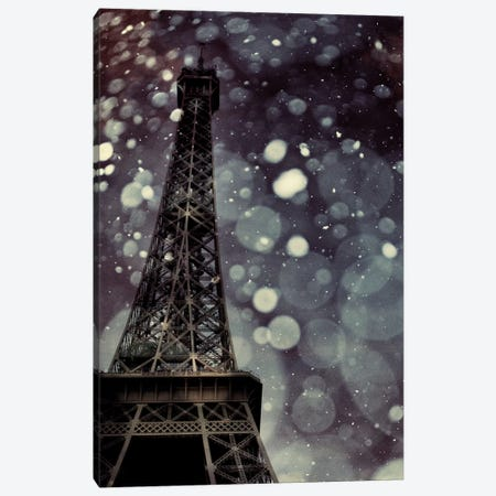 Paris Is Snowing Canvas Print #CVA58} by Chelsea Victoria Canvas Art