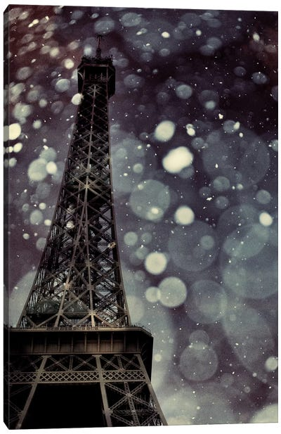 Paris Is Snowing Canvas Art Print