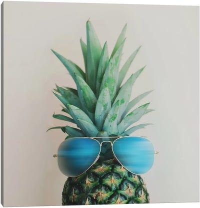Pineapple In Paradise Canvas Print #CVA60