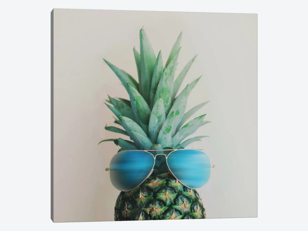 Pineapple In Paradise by Chelsea Victoria 1-piece Canvas Wall Art